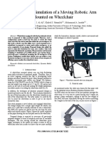 Modeling and Simulation of a Moving Robot Arm Mounted on Wheelchair