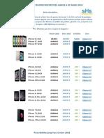 Tarif Mars 2018 - IPhones Recertifiés Grade A