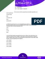 147749Aula 4 - Matematica - Sandro Davison - C.Q. - Juros Simples e Compostos