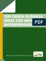 10 Green Business Ideas