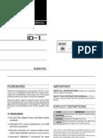Icom ID-1 Instruction Manual