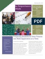 math technewsletter