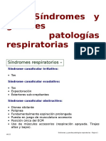 Síndromes y grandes patologías respiratorias