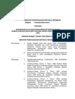 Permendag 17-2010- Perubahan Angka Pengenal Importir