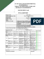 Lab Report Soil Classification