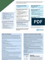 Ah1n1 Checklist