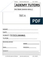 Physics Double (Bgcse) February Test