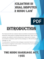 Reconciliation in Matrimonial Disputes under Hindu Law