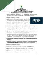 Requisitos Para Otros Profesionales de Las Ciencias de La Salud 0