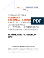 TDR - New Media COLOMBIA- CANADÁ 2018 PAD