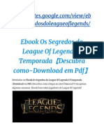 eBook Os Segredos Do League of Legends 8 Temporada (Download Em PDF)