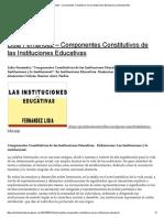 Lidia Fernández – Componentes Constitutivos de Las Instituciones Educativas _ Porfoliodocente