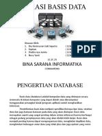 Presentasi Aplikasi Basis Data