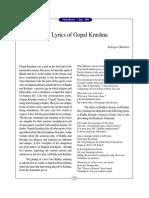 The Lyrics of Gopal Krushna