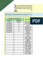 Excel modificable para velocidad lectora 1° básico - Evalución 3 La casita caramelo (2)