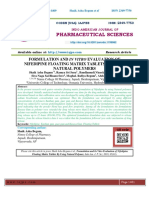 FORMULATION AND IN VITRO EVALUATION OF NIFEDIPINE FLOATING MATRIX TABLETS BY USING NATURAL POLYMERS