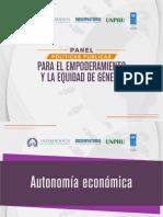Panel políticas públicas para el empoderamiento y la equidad de género