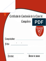 Certificado - Compañero