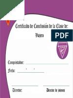 Certificado - Excursionista