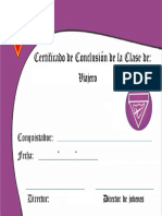 Certificado - Excursionista