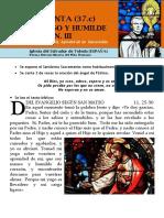 HORA SANTA Con San Pedro Julián Eymard. Jesús Manso y Humilde Corazón (37.c)