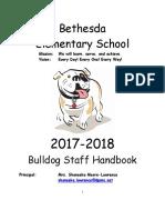 bethesda elementary faculty handbook 2017-2018 -lockard comments