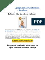Cefaleia 【Dor de Cabeça Na Testa】