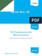 Sesión 3_Fundamentos Del Mantenimiento