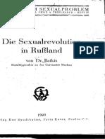 Grigorii Batkis, Die Sexualrevolution in Russland, Berlin