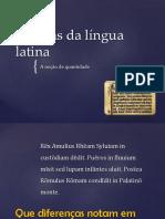 Os Sons Da Língua Latina