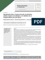 Rendimiento físico y fuerza muscular en pacientes adultos mayores con diabetes y sin diabetes de un hospital público de Lima (Perú)