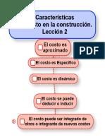 Características Del Costo L2