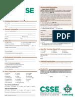 CSSE Membership Application