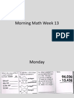 morning math week 13