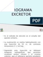 UROGRAMA EXCRETOR