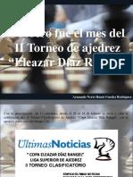 Armando Nerio Hanoi Guedez Rodríguez - Febrero Fue El Mes Del II Torneo de Ajedrez Eleazar Díaz Rangel