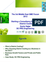 Starting a Consultancy Business in District Cooling Sep 2012
