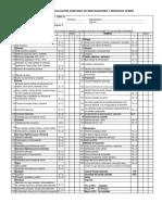 Ficha Para Evaluación Sanitaria de Restaurantes