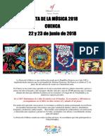 Convocatoria Pública Fiesta de La Música 2018 Musicos