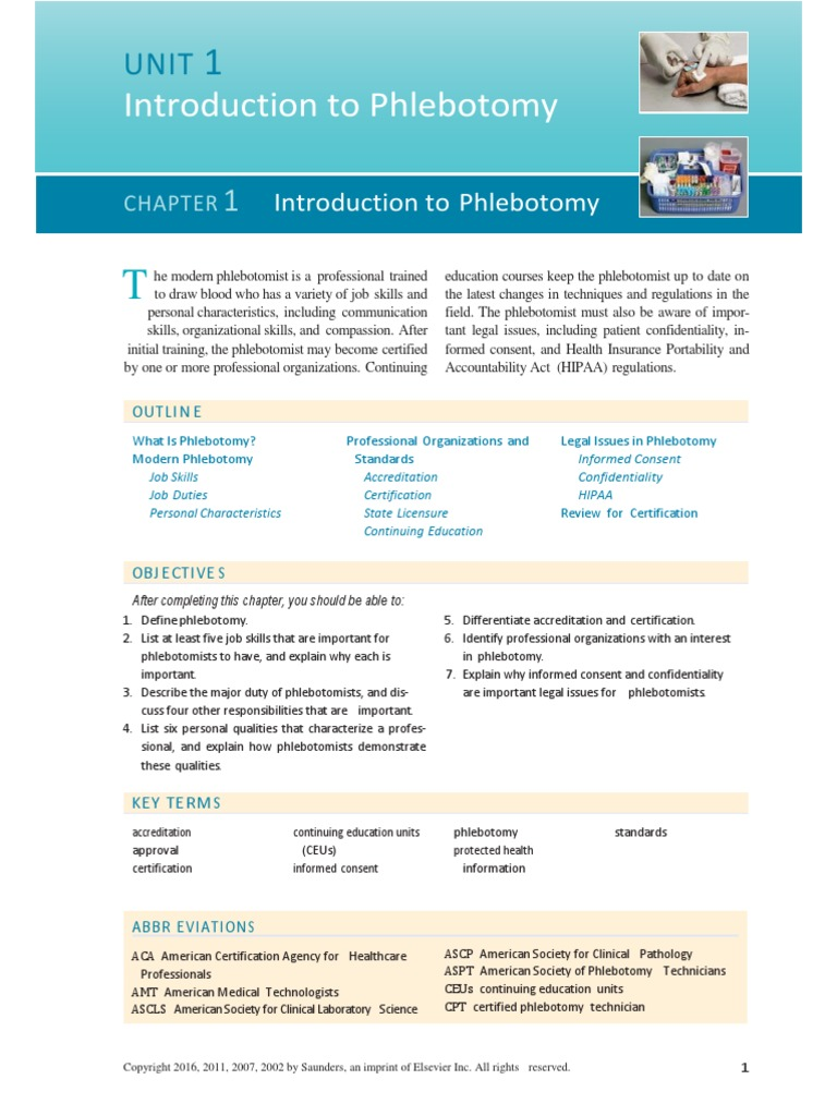 Unidad 1 From Flebotomia Professional Certification Health