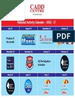 Activity Calendar 2016-17