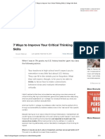 7 Ways to Improve Your Critical Thinking Skills _ College Info Geek