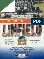 Vol 28 - Linfield v Coleraine 03.04.99