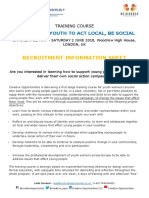 Recruitment Sheet Supporting Youth to Act Local Be Social Recruitment Sheet