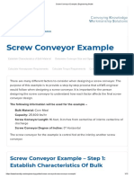 Screw Conveyor Example _ Engineering Guide