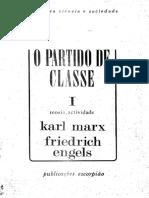 MARX & ENGELS - O Partido de Classe (Vol. 1)