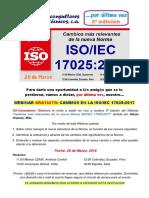 Invitacion 3a EDICION Webinar Cambios 17025-2017
