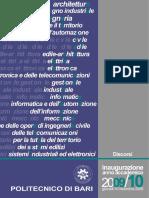 Discorsi Inaugurazione a.a.2009/2010 Politecnico di Bari