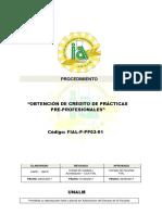 FIAL P PP05 01 Obtencion de Credito Practicas Pre Profesionales