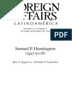 Foreign Affairs Samuel Huntington